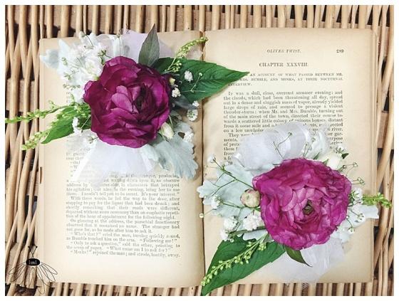 little miss lovely floral design // wedding florist // pink ranunculus garden corsage with mint