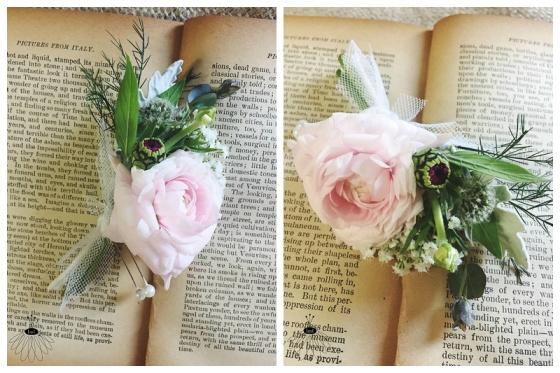 little miss lovely floral design // wedding florist // pink ranunculus garden boutonniere