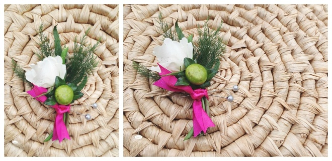 little miss lovely floral design // white spray rose and dahlia boutonniere // ocean city maryland