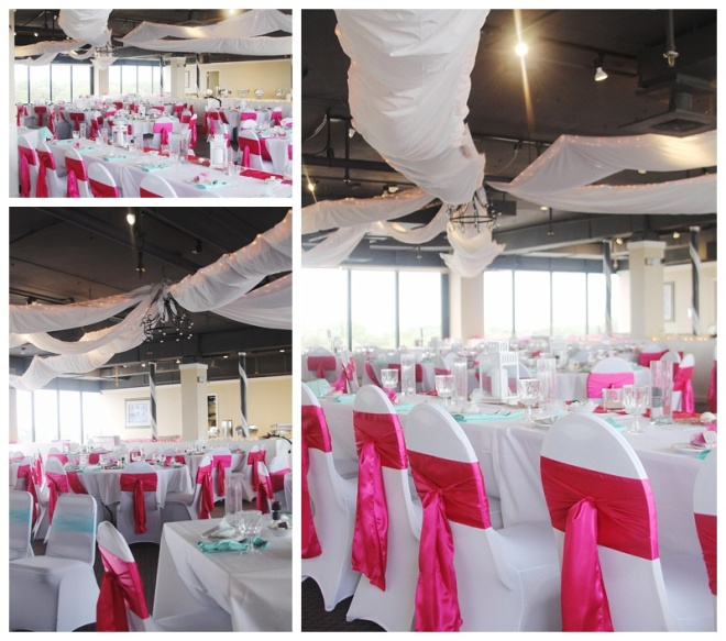 little miss lovely floral design // peaky's ocean city maryland wedding // ceiling installation by little miss lovely