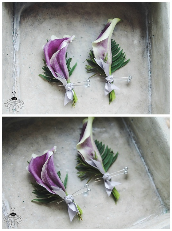 little miss lovely floral design // picasso lily boutonnieres // ocean city maryland florist
