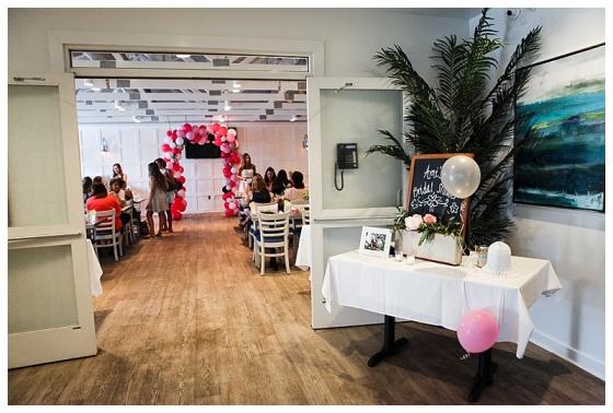 little miss lovely floral design // ocean city maryland florist // kitchen garden themed bridal shower // waterman's seafood bridal shower