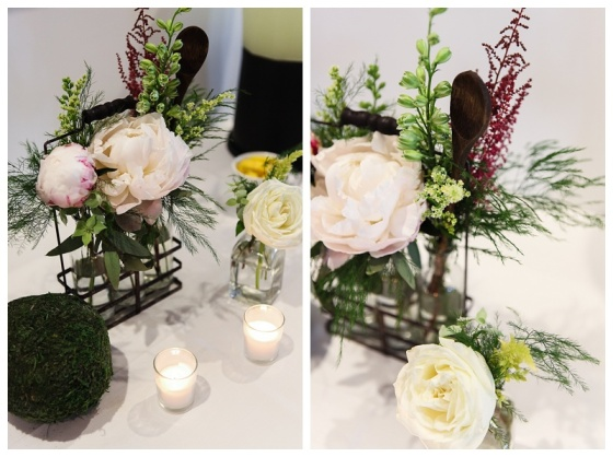 little miss lovely floral design // ocean city maryland florist // kitchen themed bridal shower centerpiece
