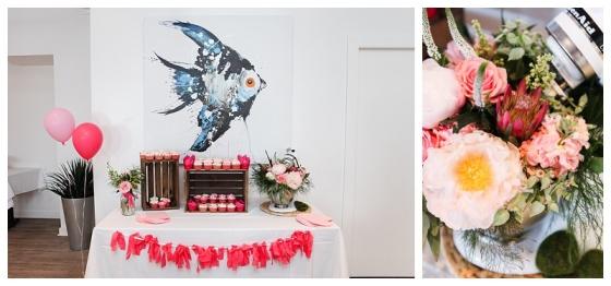 little miss lovely floral design // kitchen themed bridal shower in Ocean City Maryland // kitchen aid mixer flower arrangement