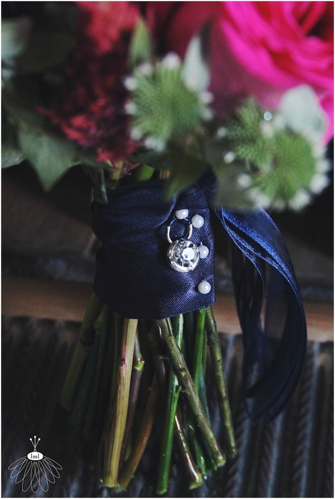 little miss lovely floral design // ocean city maryland wedding florist // pink navy and white wedding at lighthouse sound