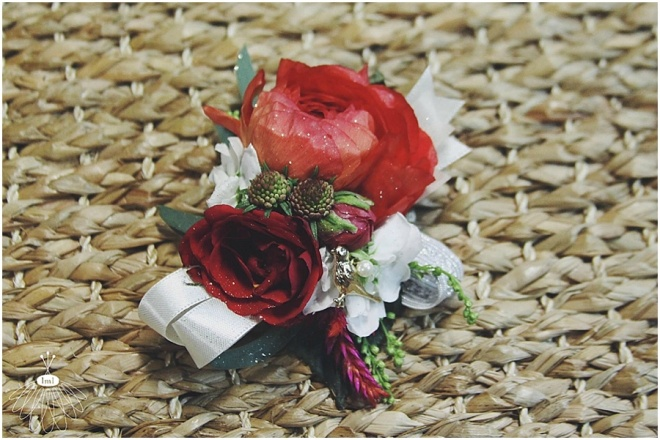 ami and chaz wedding // little miss lovely floral design // ranunculus wrist corsage
