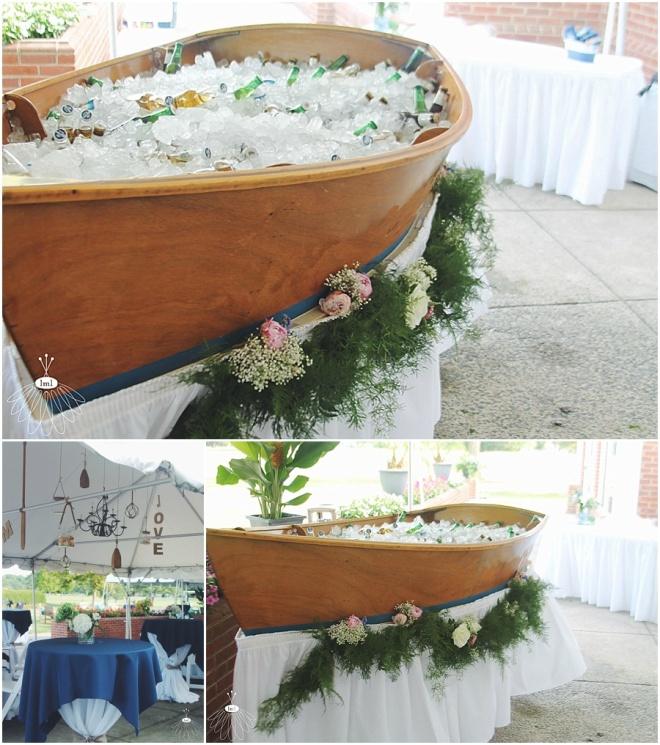 little miss lovely floral design // ocean city maryland wedding florist // cocktail hour floral arrangements