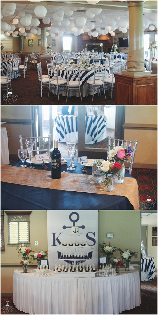 little miss lovely floral design // ocean city golf and yacht club wedding // nautical wedding
