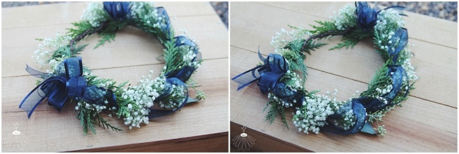 little miss lovely floral design // baby's breath and cedar flower crowns