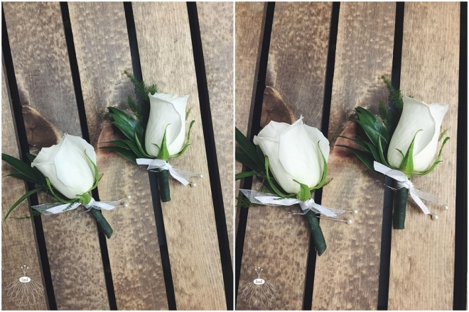 little miss lovely floral design // white rose boutonnieres ocean city maryland florist