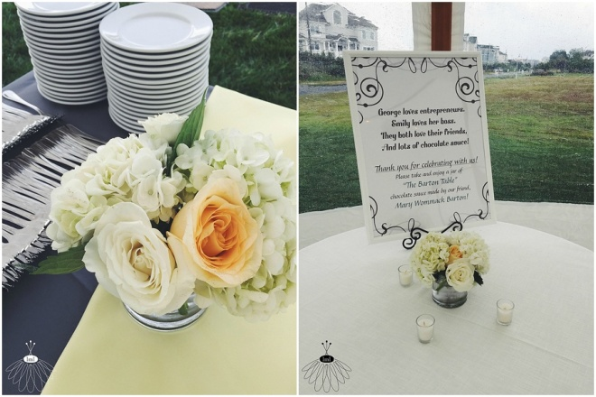 little miss lovely floral design // white and yellow coastal wedding ocean city maryland