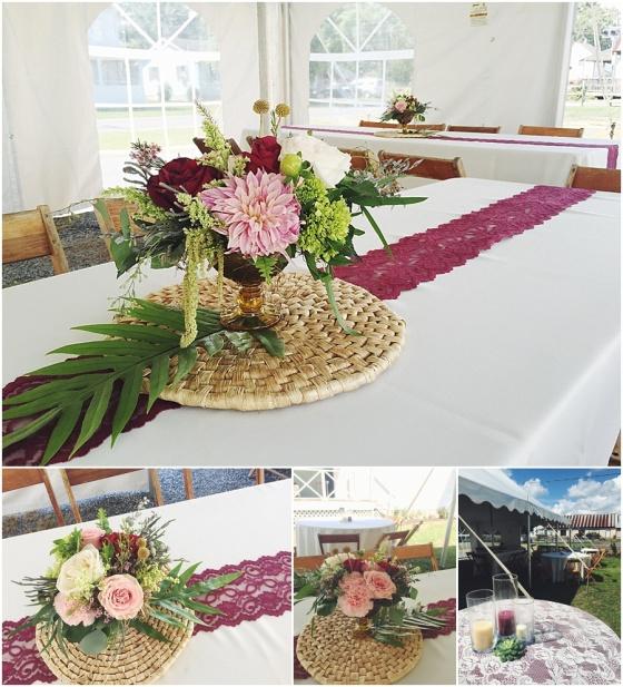 little miss lovely floral design // newark md wedding long branch studios art gallery wedding