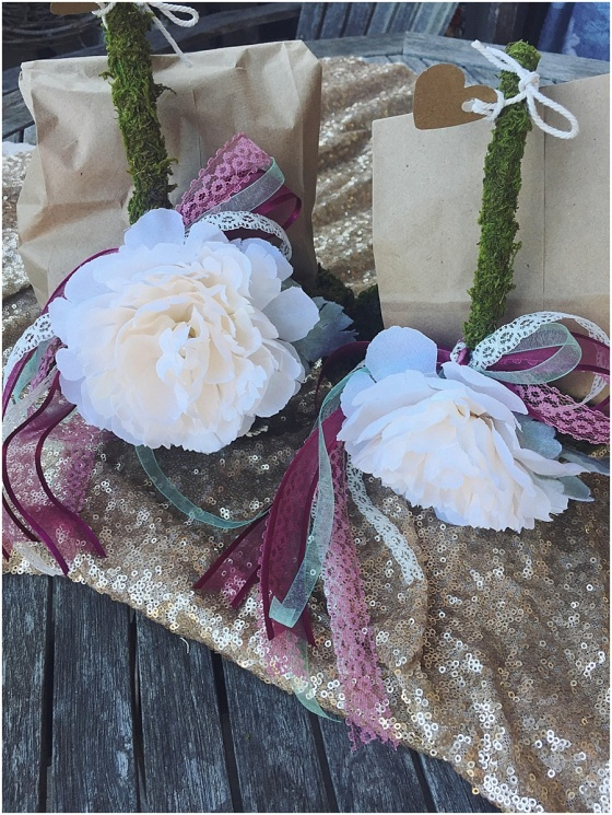 little miss lovely floral design // moss flower girl baskets
