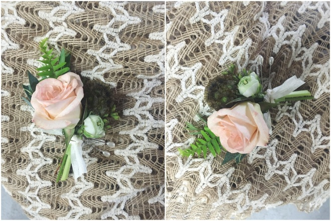 little miss lovely // peach spray rose boutonniere // ocean city maryland wedding florist