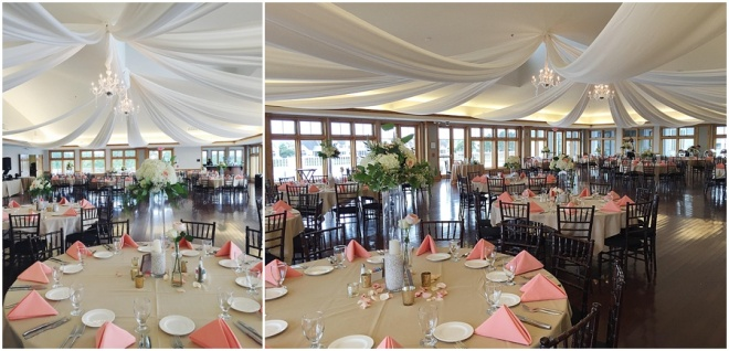 little miss lovely floral design // ocean pines yacht club wedding