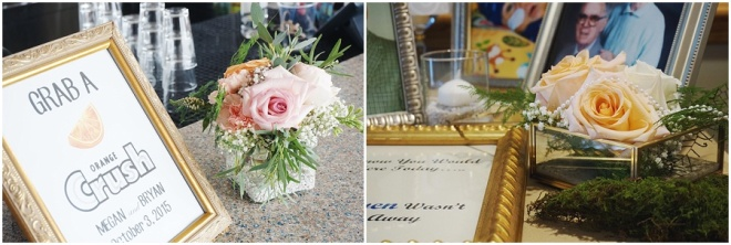 little miss lovely floral design // ocean pines yacht club wedding // crush bar
