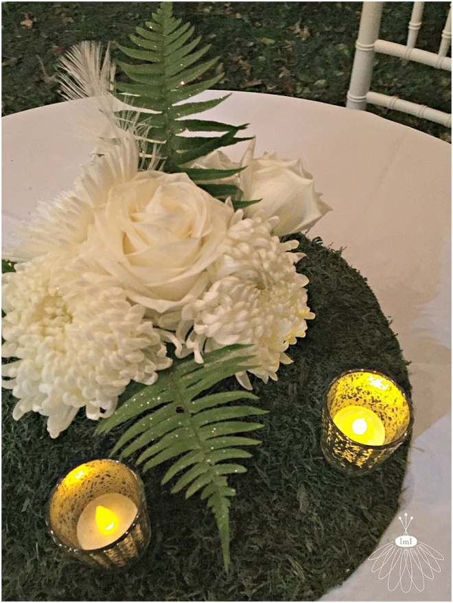 little miss lovely floral design // historic st martins church event // all white flower arrangements