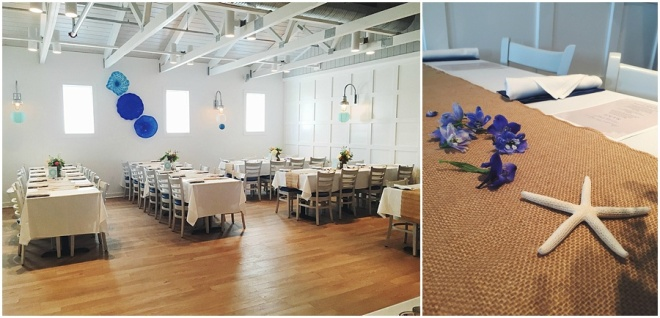little miss lovely floral design // ocean city maryland wedding florist // watermans seafood restaurant wedding reception