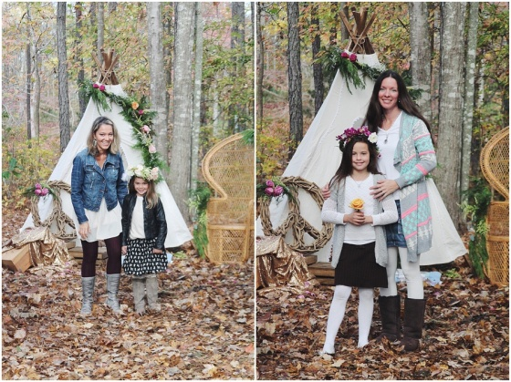 little miss lovely floral design // flower crown kids birthday party // teepee party with flower crowns